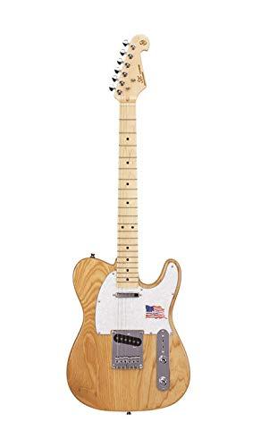 SX - Té de guitarra eléctrica con forma de baldosa en fresno natural americano