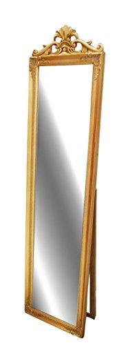 Livitat LV8753-G antik barock Ankleide-/Standspiegel Landhaus, 180 cm, gold