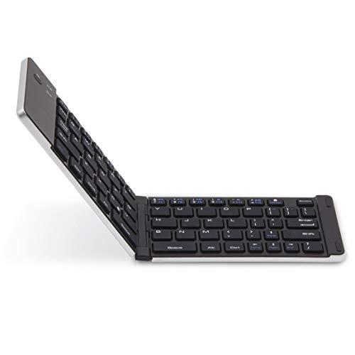 73JohnPol F66 Aluminium Alloy Wireless Keyboard für iOS Android für Windows System Portable Folding Kleine Tastatur (Farbe: Silber)