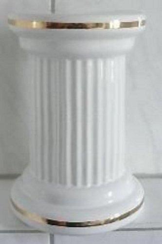 Achtung: Artikel weist kleine Fehler auf::Toilettenbürstengarnitur Material Keramik Form Antike Säule w-goldstaffagestaffage hergestellt in Deutschland