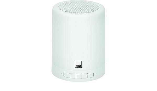 10-Stufen-Dimmer Spritzwassergesch/ützt Fernbedienung Leuchtenfunktion und Lichteffekten leistungsstarkem Akku CTC BSS 7014 Bluetooth-Lautsprechersystem inkl