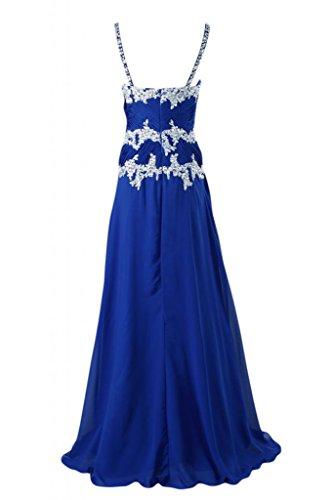 Sunvary lungo elegante, Spaghetti cinghie Sweetheart vestito da sera Royal Blue