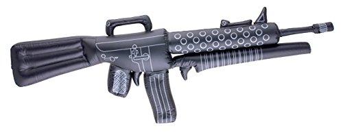 Faschingsfete Kostüm Accessoire Mottoparty Military- Army- Camouflage aufblasbares Gewehr, 110cm Schwarz