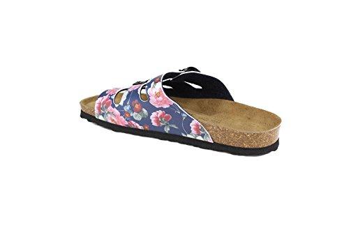 JOE N JOYCE Paris Synsoft sottopiede morbido Rose sandali stretto Rose Blue