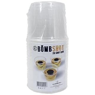 Original Cup- Pack de 20 Bömb Shots-Verres en Plastique à Double Contenant pour Mixer Vos Cocktails, BOMBSHOT-20