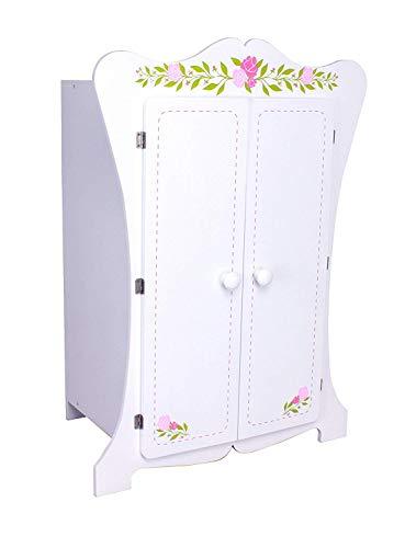 habeig Kinderschrank #355 Kleiderschrank 70cm hoch Wandschrank Hängeschrank weiß 2 Türen Puppenschrank