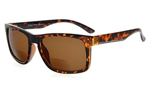 Eyekepper Bifocal Sonnenbrille Männer Frauen (Schildkrötenrahmen, Brown Lens +2.5)