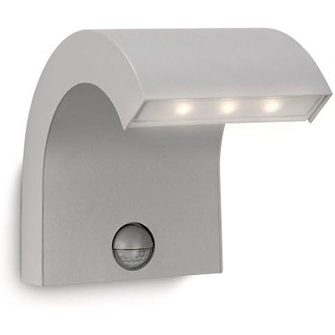 Philips Ledino Riverbank - Aplique LED, color gris