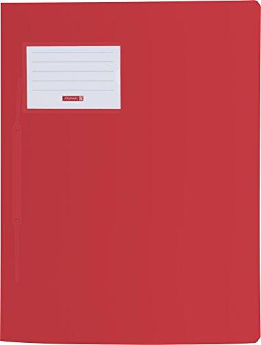 Brunnen 102015023 Schnellhefter FACT!pp (A4, aus transluzentem PP, mit Namensschild, mit Einstecktasche innen) rot