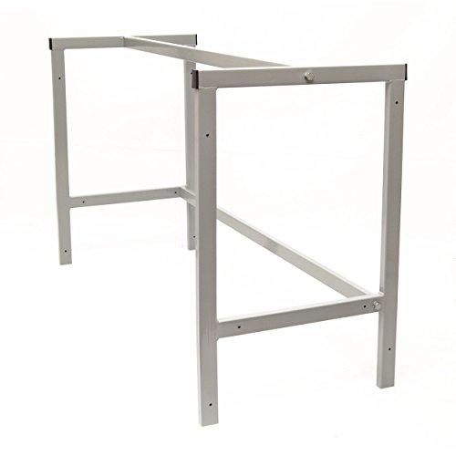 Werkstatttisch Arbeitstisch Werkbank Werktisch Tischgestell Packtisch 110cm Grau