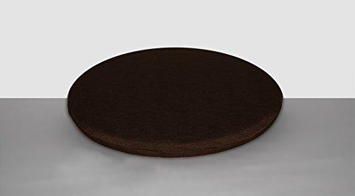 Arketicom Pacco da 4 Cuscini Artigianali Per Sedie Rotondi Misto Cotone Poliestere Colore Marrone diam. 35X3 (cuscino quadrato sedia casa cucina giardino)