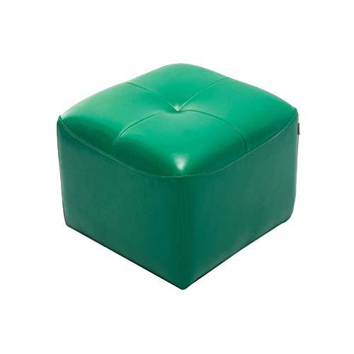 2 Cube Osmanischen (YCSD Small Square Osmanischen Cube Shaped Puffs Fußbank, Reiches Kunstleder (Farbe : Green))