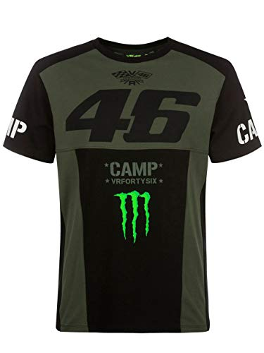Valentino Rossi Camp-Monster Dual, Tshirt Uomo, Green, S