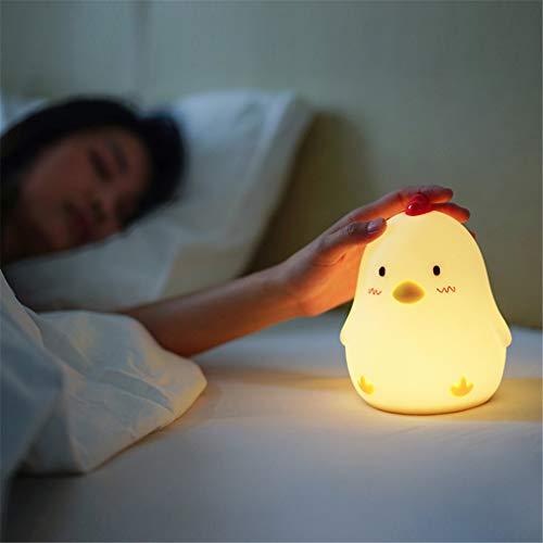 Road&Cool Despertador De Luz USB Cargando Niño Dormitorio Junto A La Cama Estado Animico Luz De Noche Iluminación Interior (13 × 12 × 15cm)