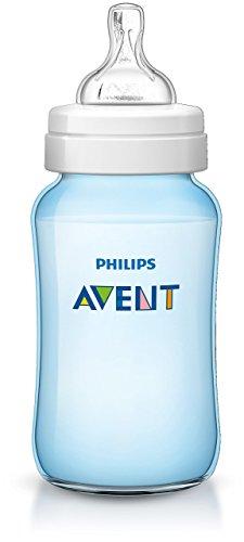 Philips Avent SCF568/17 - Biberón Classic+ de 330 ml, tetina de flujo para recién nacidos, anticólico, color azul