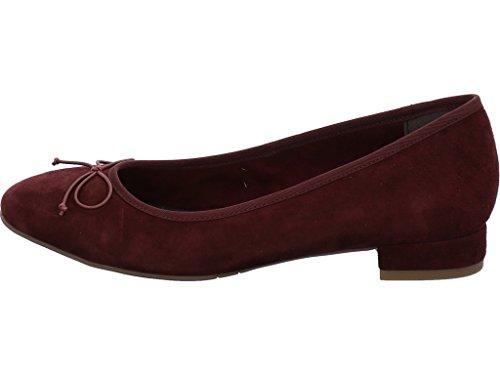 Tamaris Damen 22201 Geschlossene Ballerinas Rot (Berry)