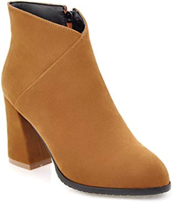 JING Chaussures à talon femme épaisse Mode épaisse femme avec des Bottes à Talons Hauts SauvagesB07HNRC2SWParent 86b48f