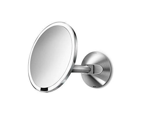 simplehuman-wall-mount-sensor-mirror-5x-magnification-tru-lux-light-system-20-cm