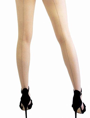 e Durchsichtig Mittelnaht Blockabsatz Silky Größe 36-48 (Nude, M) (Plus Size Burlesque Outfits)