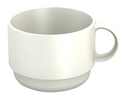 Ornamin Tasse 150 ml weiß (Modell 501) / Mehrweg-Becher Kunststoff, Kaffeetasse, Teetasse