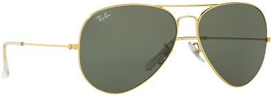 Rayban Aviator unisex Sunglasses (RB3026|62 millimeters|Crystal Green)