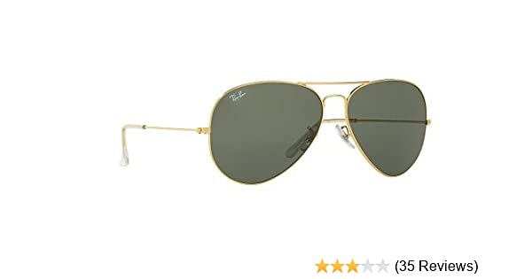 Rayban Aviator unisex Sunglasses (RB3026 62 millimeters Crystal Green)   Amazon.in  Clothing   Accessories e5395a6555