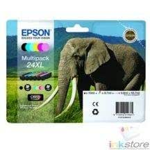 Multipack Epson T24XL - 6 Cartouches (bk/cy/mg/yl/lcy/lmg) Cartouche Epson Expression Home XP-850