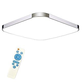 SAILUN 24W Dimmbar LED Modern Deckenleuchte Deckenlampe Flur Wohnzimmer Lampe Schlafzimmer Küche Energie Sparen Licht Silber