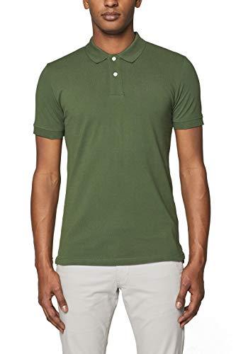 Baumwoll-piqué Khaki (ESPRIT Herren 999EE2K803 Poloshirt, Grün (Khaki Green 350), X-Large (Herstellergröße: XL))