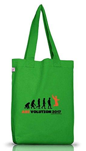 Abschluss Abitur Jutebeutel Stoffbeutel Earth Positive mit Abi Evolution 2017 Motiv Kelly Green