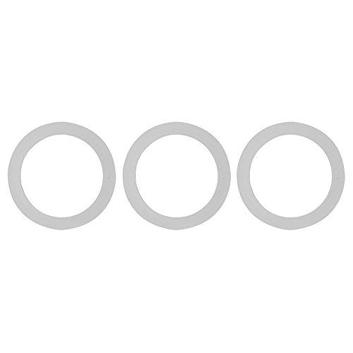 Excelsa Blister Chicco Piastra con 3 Guarnizioni Caffettiera, Gomma, Argento, capacità 3/6 Tazze