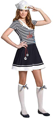 Karneval-Klamotten Matrosen Kostüm Damen sexy Teenager Matrosin Damen-Kostüm Größe ()