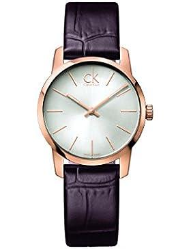 Calvin Klein Damen-Armbanduhr Analog Quarz Leder K2G23620