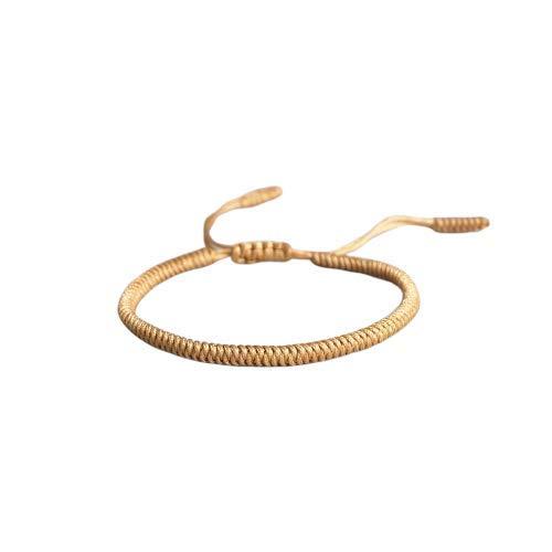 chte Glücksarmbänder Freundschafts- Knotenband Unisex (sandgelb) ()