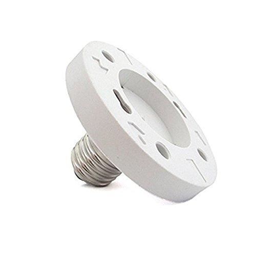 Fineled E27 vers GX53 adaptateur, E27 femelle vers GX53 mâle Cablematic ampoule LED Adaptateur de support (lot de 1)