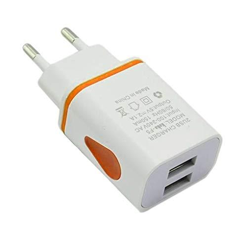 Demino USB Wall Charger Dual Port 2A Ausgangs Spielraum-Stecker-Adapter kompatibel für Telefon-EU-Stecker - Telefon-ports