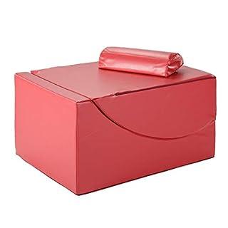 aktivshop Relaxliege & Bandscheibenwürfel zur orthopädischen Stufenlagerung, mit Kunstleder-Bezug, rot, inkl. Kissen