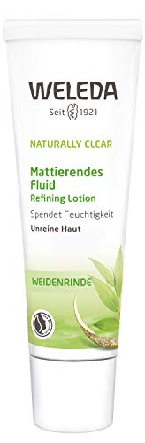 WELEDA Naturally Clear Mattierendes Fluid, Naturkosmetik bei Pickeln & Mitessern, Feuchtigkeitscreme für unreine Haut, Mattierende Creme (1 x 30 ml) - Weleda Gesichtswasser