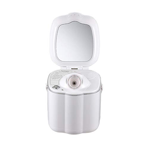 LJXiioo Feuchtigkeitsspendender Gesichtszerstäuber mit Spiegel, Gesichtsdampfer Nano Ionic Hot Mist für Personal Home Sauna SPA