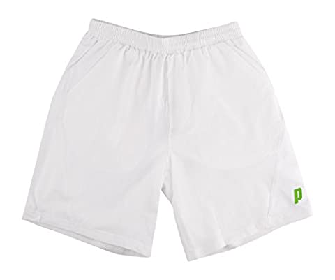 Prince Men's Tennis Shorts - White, Large