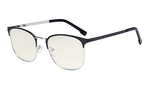Eyekepper Damen Computer Brille - Blaulichtfilter Brille Damen.- UV420 Schutzbrille im Halbrandlose Design - Schwarz