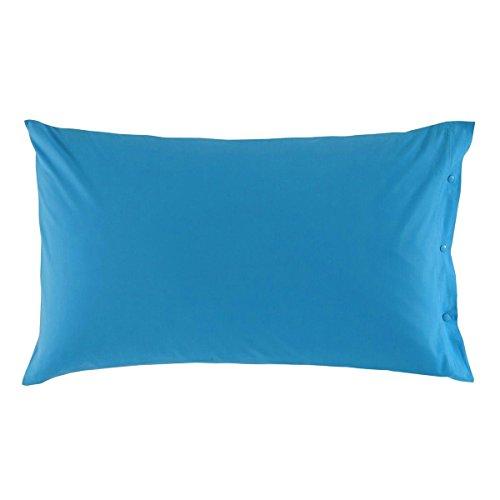 Federa zucchi clic clac tinta unita caraibico cm 50 x 80 100% puro cotone percalle azzurro