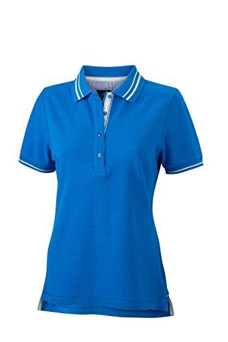 Polo a manica corta con dettagli alla moda Ladies' Lifestyle Polo cobalt/off-white