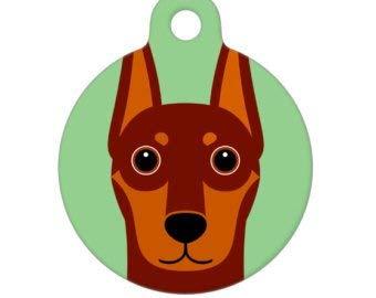 Pet ID Tag – Red Doberman Pinscher