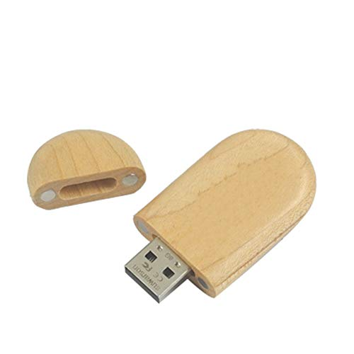 LIMTT Flash Drive USB Disk Memory Stick,con Legno Wood USB 2.0 Flash Drive, Ad Alta Velocità U Disk Memory Stick, Storage Fotografia Regali Di Nozze 8GB
