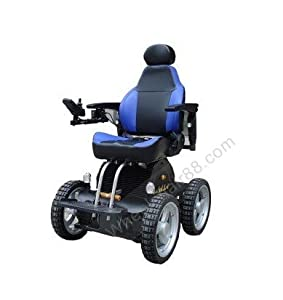 4X4 All Terrain Indoor Outdoor 4 Wheel Drive Stair Climbing Gyroscope Power Electric Wheelchair 30km Range with Rear Stand for Pillion 2 Year Warranty