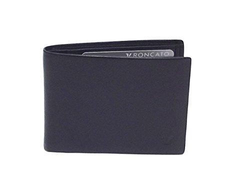 Roncato portafoglio uomo, Prima 411904-01, portafoglio orizzontale multiscomparto in pelle, colore nero