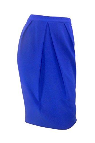 marks-spencer-azul-cobalto-crepe-falda-de-tubo-con-suave-pleating-en-la-parte-delantera-azul-azul-40