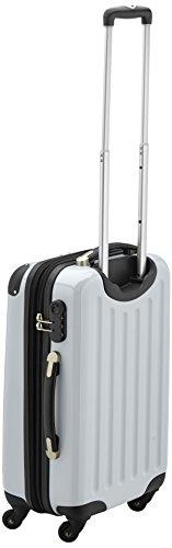 HAUPTSTADTKOFFER - Alex - Handgepäck Hartschalen-Koffer Trolley Rollkoffer Reisekoffer Erweiterbar, 4 Rollen, 55 cm, 42 Liter, Weiß - 3