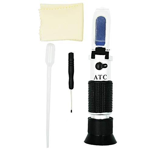 ifeng Tester Portatile palmare Strumento Motore glicole Fluido antigelo Punto di congelamento Rifrattometro Batteria Auto ATC -50~0C 30-35% -Nero e Argento
